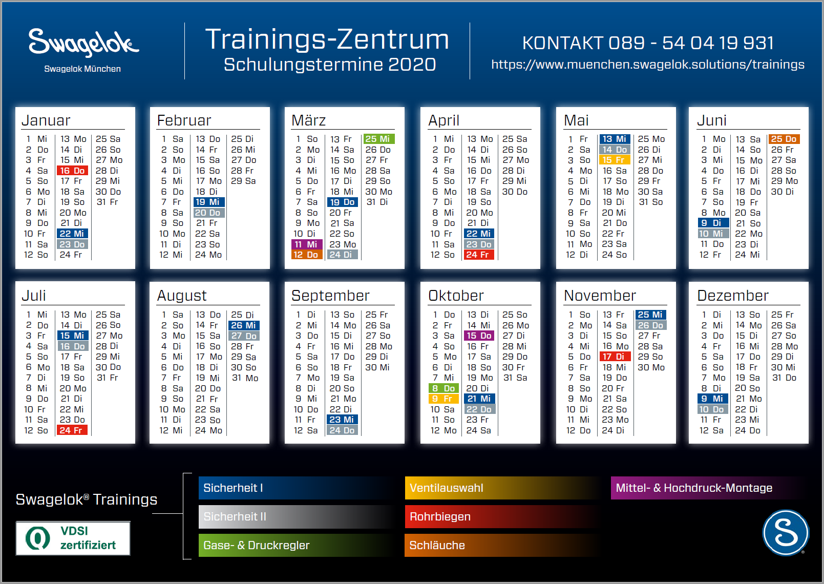 Swagelok Trainings-Zentrum Schulungstermine